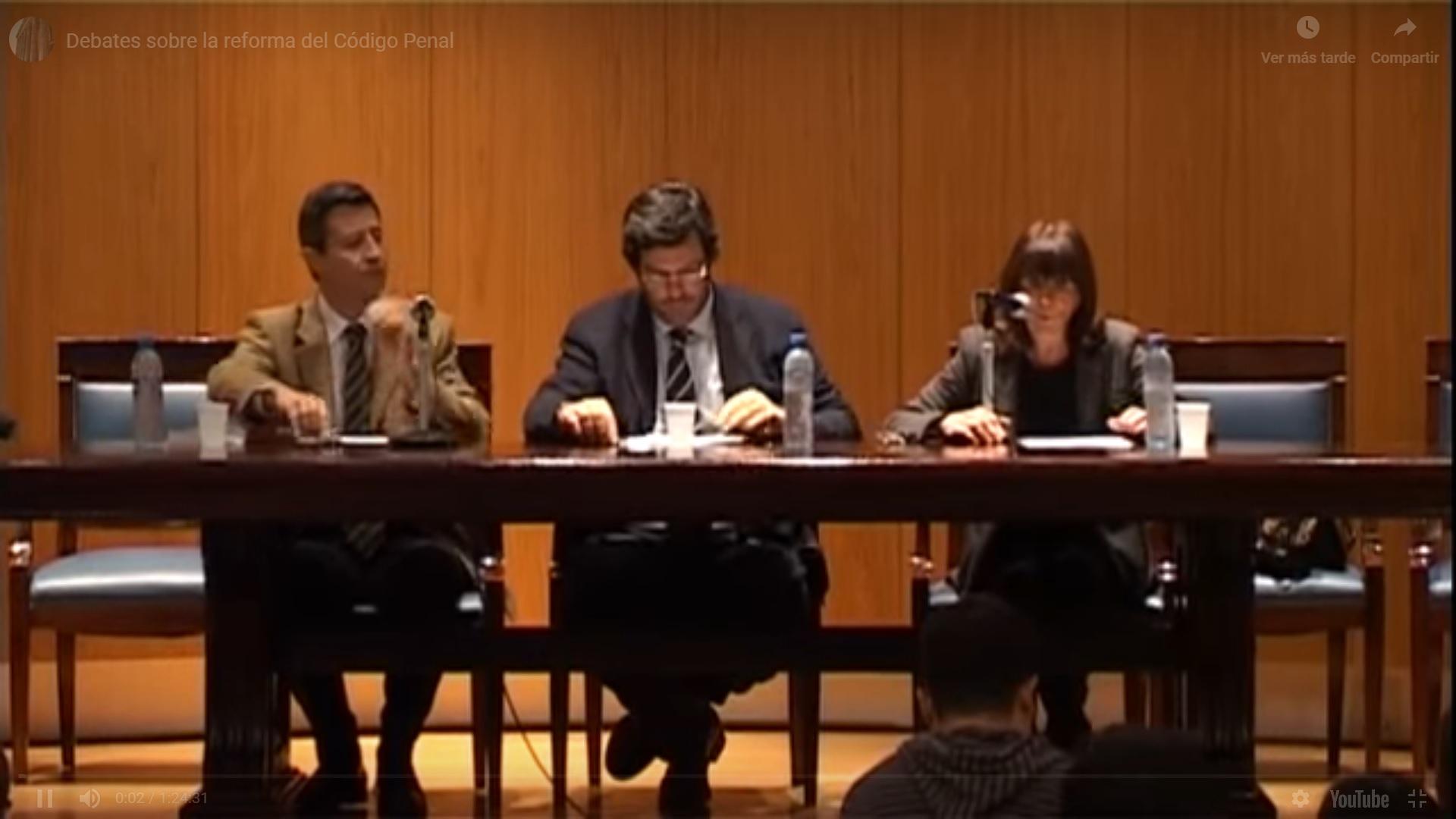 Debates sobre la reforma del Código Penal