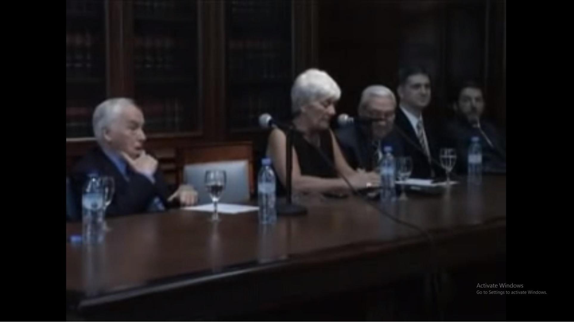 Homenaje de la Facultad al Profesor Emérito Dr. Roberto J. Vernengo