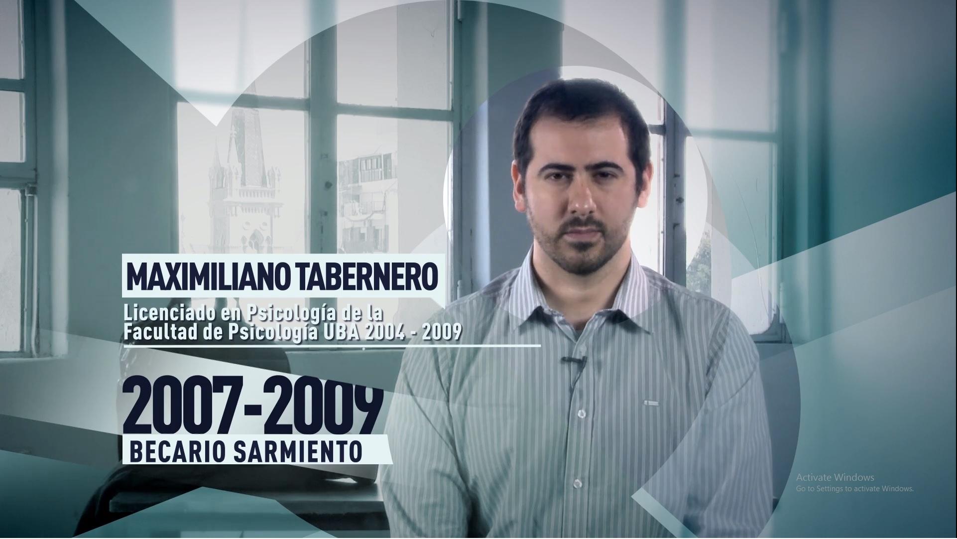Soy UBA Psicología - Maximiliano Tabernero, becario