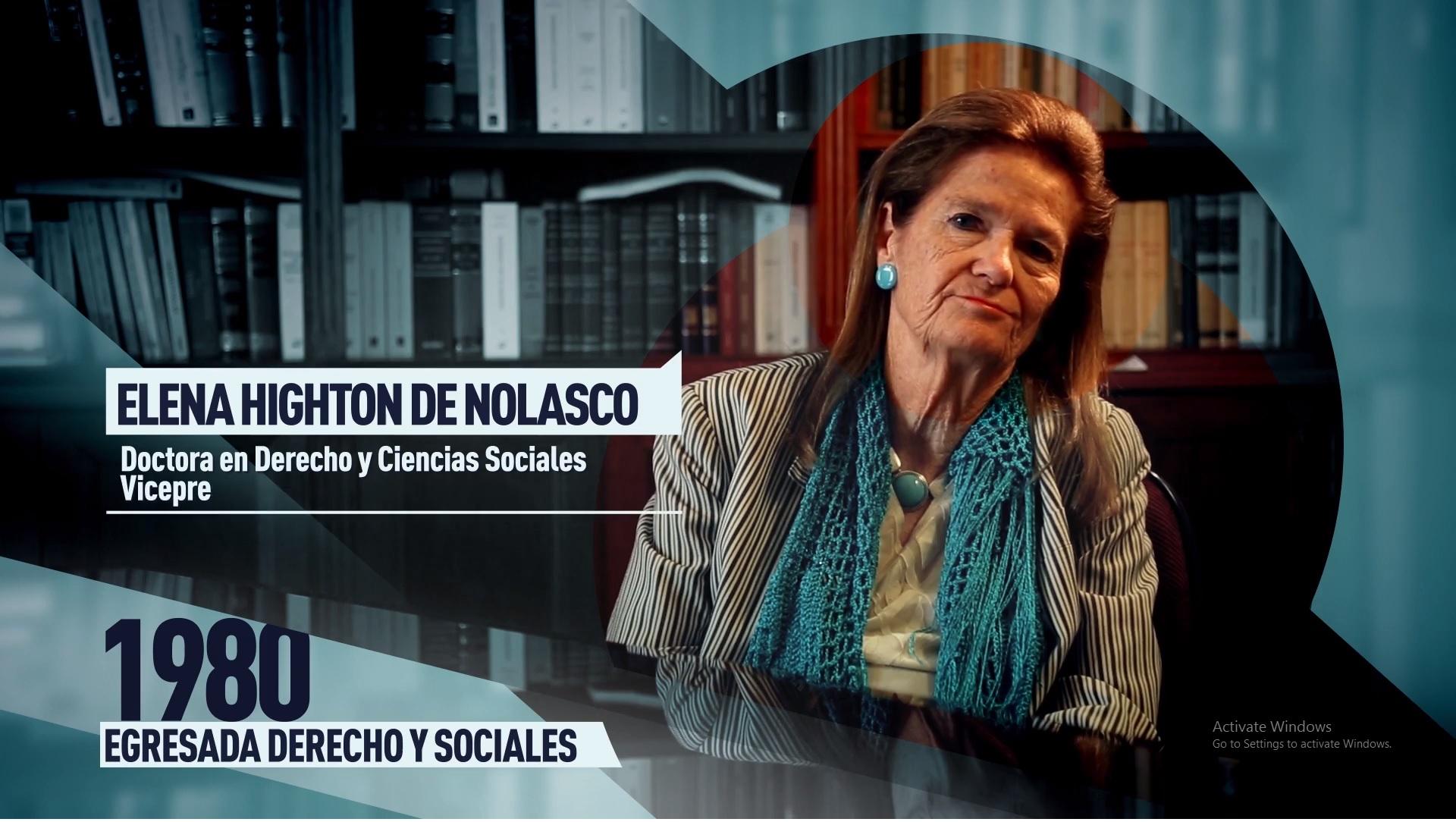 Soy UBA Derecho - Elena Highton de Nolasco