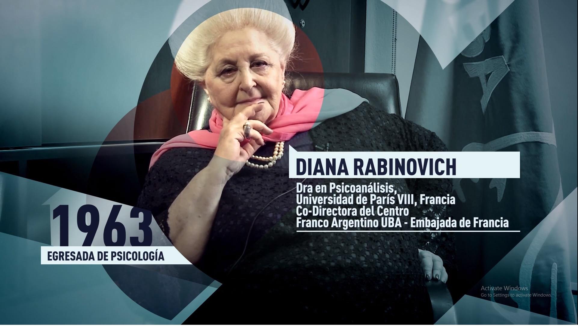Soy UBA Psicología - Diana Rabinovich