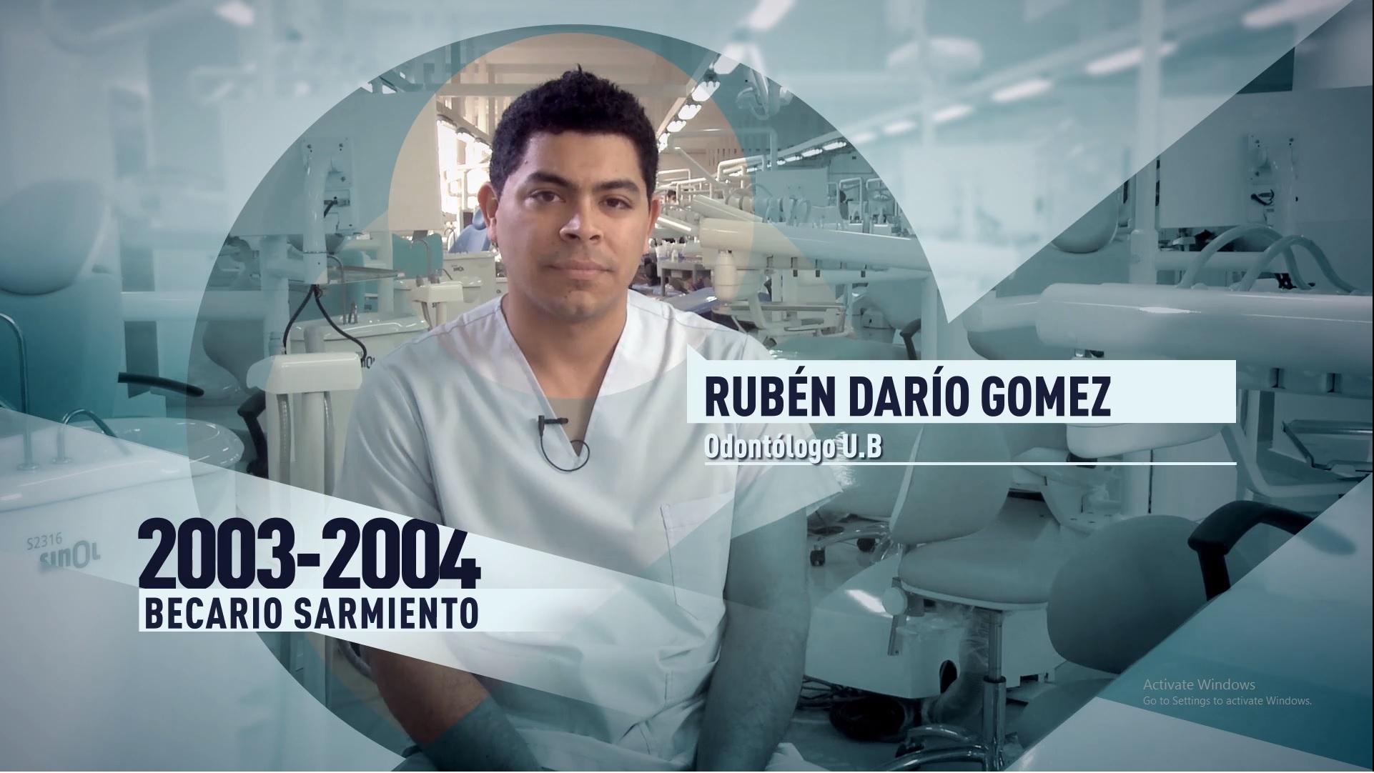 Soy UBA Odontología - Rubén Darío Gomez, becario