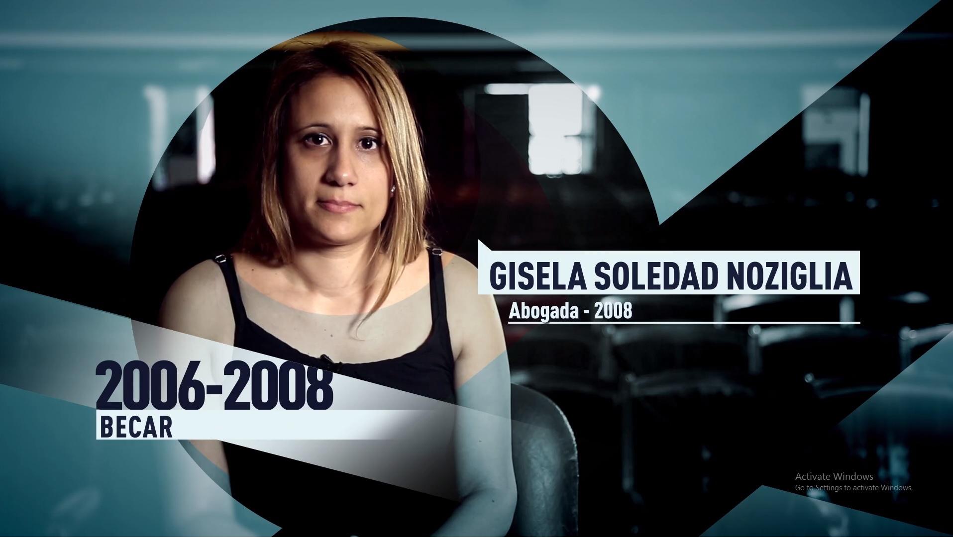 Soy UBA Derecho - Gisela Noziglia, becaria
