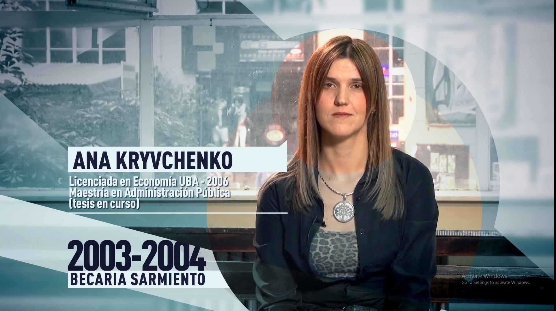 Soy UBA Económicas - Ana Kryvchenko, becaria