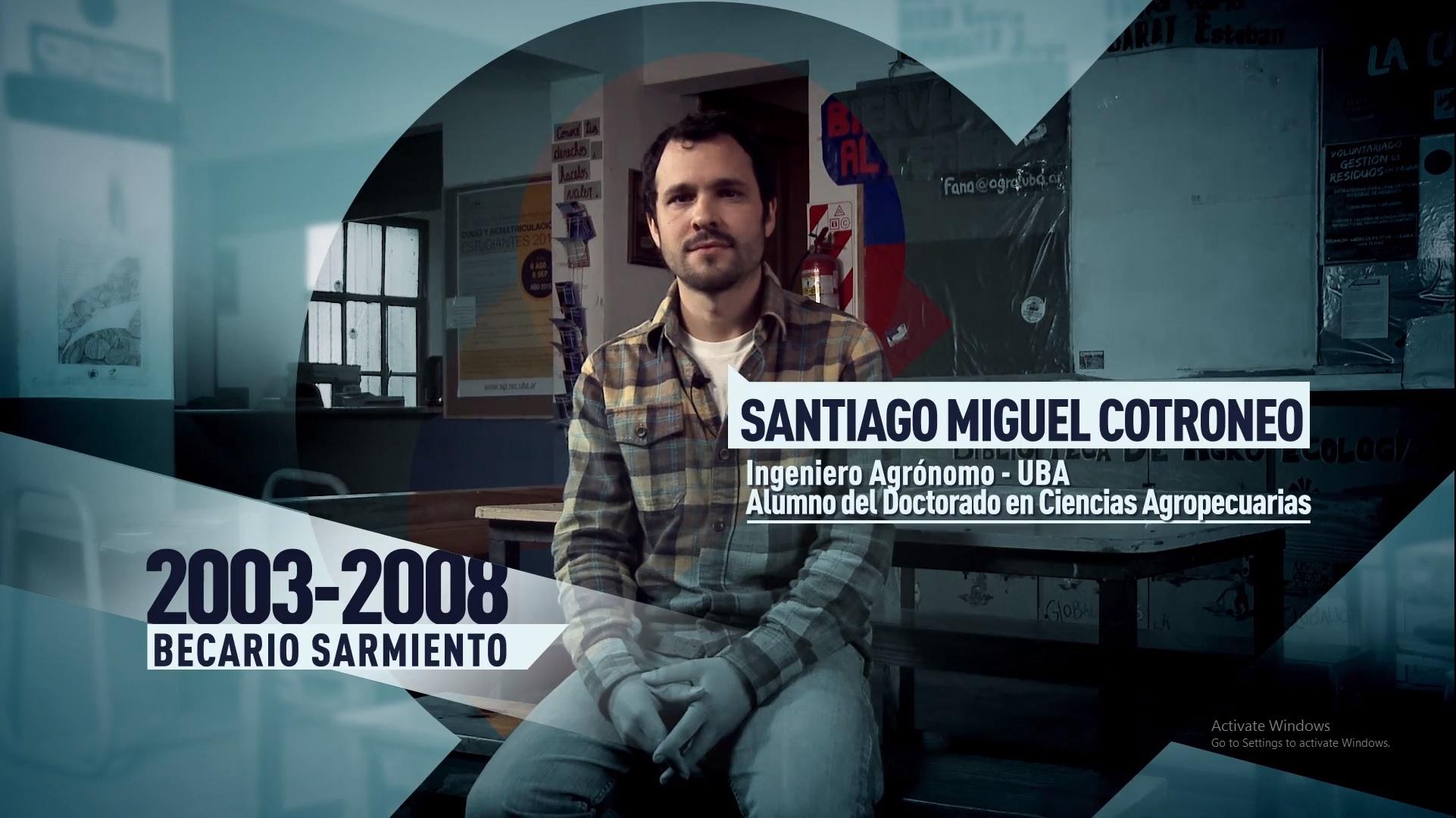 Soy UBA Agronomía - Santiago Cotroneo, becario