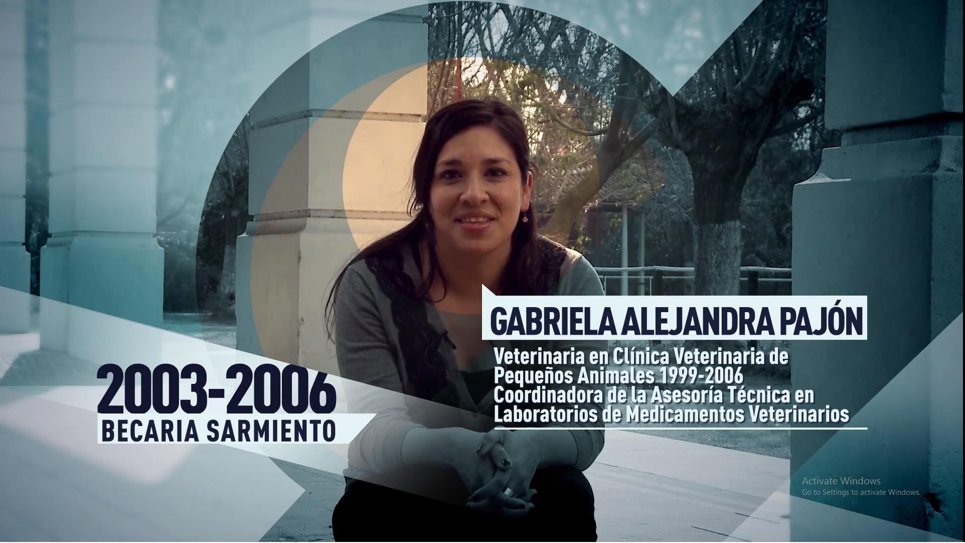 Soy UBA Veterinaria - Gabriela Pajón, becaria