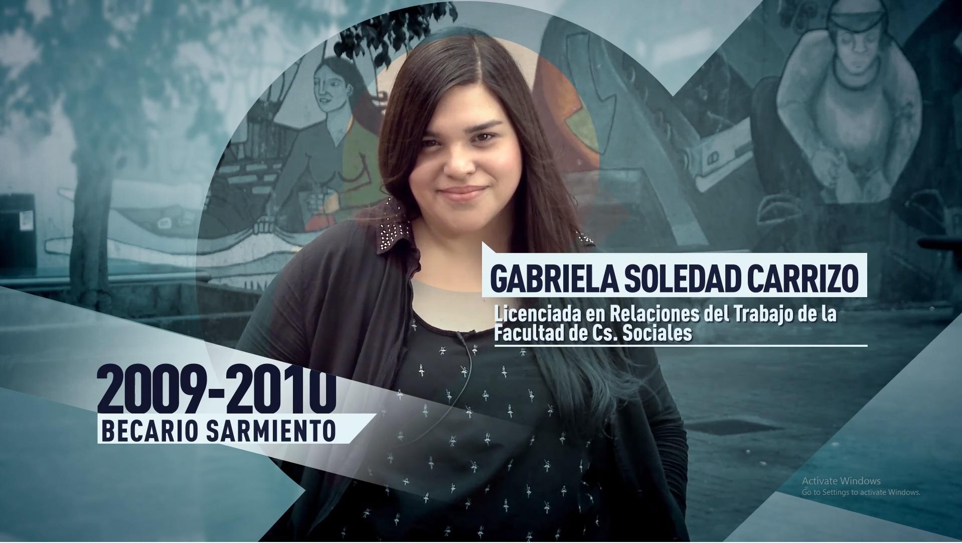 Soy UBA Sociales - Gabriela Carrizo, becaria