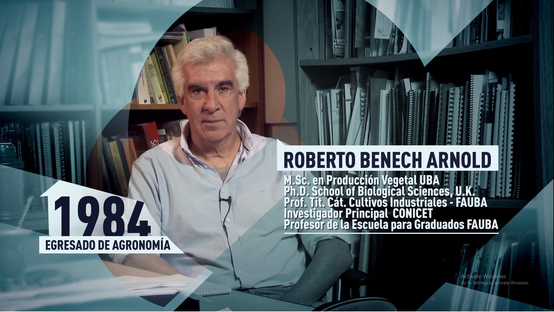 Soy UBA Agronomía - Roberto Benech Arnold